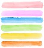 banervattenfärg vektor illustrationer
