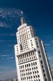 Banespa byggnad i Sao Paulo royaltyfri fotografi