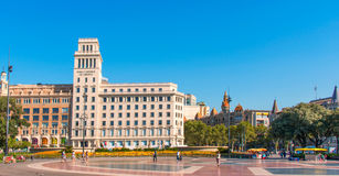 Banesto building in Barcelona Royalty Free Stock Photography