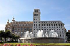 Banesto builing on Plaza Catalunya, Barcelona Royalty Free Stock Image