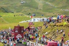 Banette Caravan in Alps - Tour de France 2015 Stock Image