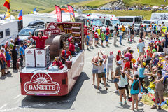 Banette Vehicle in Alps - Tour de France 2015 Royalty Free Stock Photography