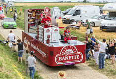 Banette Vehicle on a Cobblestone Road- Tour de France 2015 Royalty Free Stock Photo
