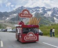 Banette Vehicle - Tour de France 2014. Col du Lautaret, France - July 19, 2014: The vehicle of Banette during the passing of the advertising caravan on mountain Royalty Free Stock Image