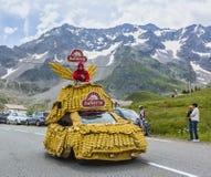 Banette Vehicle - Tour de France 2014. Col du Lautaret, France - July 19, 2014: The vehicle of Banette during the passing of the advertising caravan on mountain Stock Photo