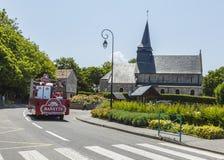 Banette Vehicle - Tour de France 2015. Sainte Marguerite sur Mer, France - July 09, 2015: Banette Vehicle during the passing of Publicity Caravan before the stock image