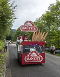 Banette Vehicle in Vosges Mountains - Tour de France 2014 Royalty Free Stock Photo