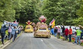 Banettecaravan in de Vogezen-Bergen Royalty-vrije Stock Afbeelding