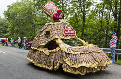 Banettevoertuig in de Vogezen-Bergen - Ronde van Frankrijk 2014 Royalty-vrije Stock Afbeeldingen