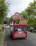 Banettevoertuig in de Vogezen-Bergen - Ronde van Frankrijk 2014 Royalty-vrije Stock Foto