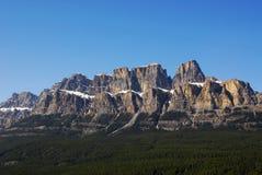 banff城堡山 免版税库存照片