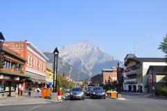 Banff大道 免版税库存照片