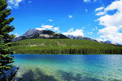 Banff干净的湖 库存照片