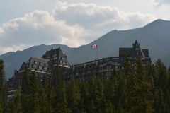 banff旅馆春天 图库摄影