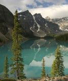 banff湖冰碛 库存照片