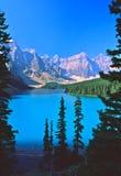 banff湖morraine 库存图片