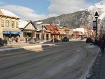 Banff Альберта Канада в зиме стоковое фото rf