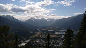 Banff από το Hill στοκ φωτογραφία με δικαίωμα ελεύθερης χρήσης
