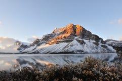 banff εθνική ανατολή πάρκων λιμνών τόξων Στοκ Εικόνες