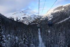 Banff, ландшафт зимы Канады Стоковые Фотографии RF