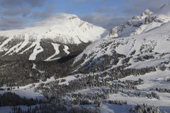 Banff, ландшафт зимы Канады Стоковые Изображения RF