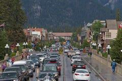 Πόλης κέντρο Banff Στοκ φωτογραφία με δικαίωμα ελεύθερης χρήσης