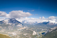 Banff Aerial View Stock Images