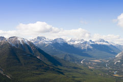 Banff Aerial View Royalty Free Stock Image