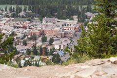 Banff - aerial view Royalty Free Stock Photography