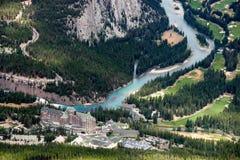 BANFF, ALBERTA/CANADA - 7-ОЕ АВГУСТА: Fairmont Banff Springs Ho Стоковые Изображения RF