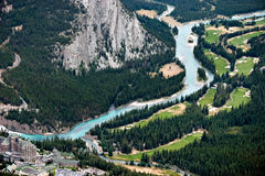 BANFF, ALBERTA/CANADA - 7-ОЕ АВГУСТА: Fairmont Banff Springs Ho Стоковые Фото