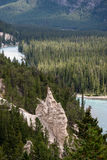 BANFF, ALBERTA/CANADA - AUGUST 7 : Bow River and the Hoodoos nea Royalty Free Stock Images