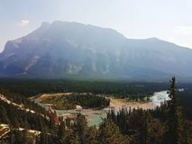 Banff, Alberta Kanada stockfotos