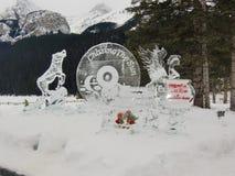 Banff Alberta Kanada w zimie zdjęcie royalty free