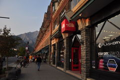 Banff-Allee stockfoto