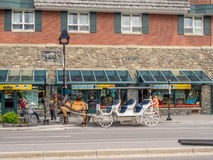 Banff Avenue shops Royalty Free Stock Images