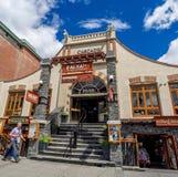 Banff Avenue shops Royalty Free Stock Image