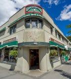 Banff Avenue shops Stock Images