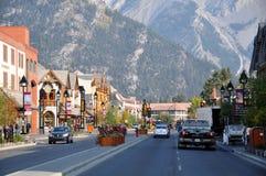 Banff aveny Arkivfoto