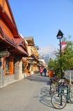Banff aveny Royaltyfri Fotografi