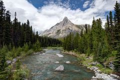 Banff-Berg Assiniboine Kanada Stockfotos