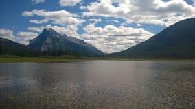 Banff-Berg-rundle Stockfotografie