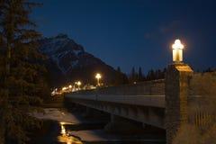 Banff bij nacht Stock Foto's