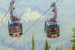 Banff cableway canada stock photography