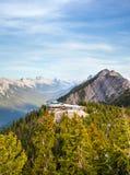 Sulphur Mountain in Banff National Park, Canada stock photo