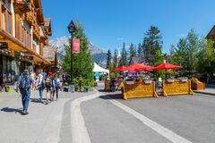 Banff Avenue Closed During COVID-19 Pandemic in the Canadian Rockies