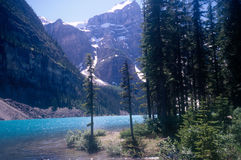 Banff Canada Lake. Lake and Mountain Scene in Banff Canada Royalty Free Stock Photography