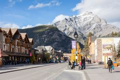 Banff Townsite in the Canadian Rockies, Canada Stock Image
