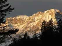 Banff Daybreak. Cascade Mountain in dawn's early light. Banff National Park, Alberta, Canada Stock Photo