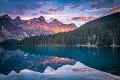 Banff at early morning. This is a photograph of the Banff National Park at early morning royalty free stock images